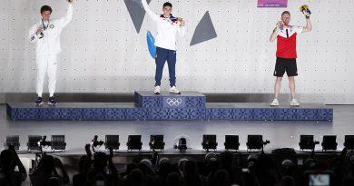 Podio maschile delle Olimpiadi d'arrampicata